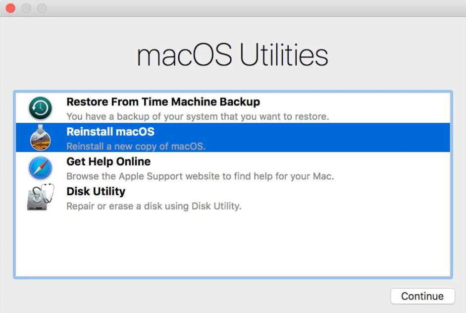Reinstall a clean MacBook Pro operating system