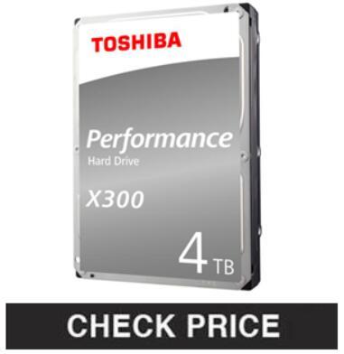 "Toshiba HDWT140UZSVAR, S300 4TB Surveillance 3.5"" Internal Hard Drive"